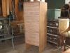 14-Drawer Custom Cabinet, Oak